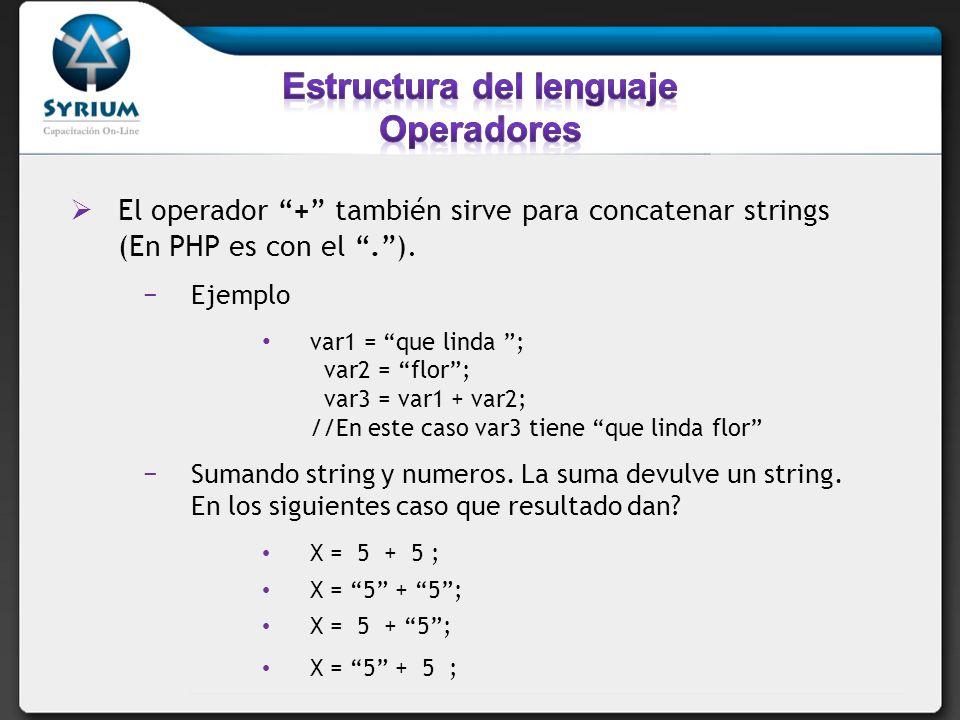 Los comparadores son operadores lógicos, que permite determinar igualades y diferencias entre variables y valores.(En este ejemplo x=4;) OperadorDescripciónEjemplo ==Es igual a x==4; //true ===Es exactamente igual(valor y tipo) x===4;//true x===4//false !=diferente x!=5; //true >Es mayor que x>5; //false <Es menor que x<5; //true >=Es mayor igual que x>=4//true <=Es menor igual que x<=4//true