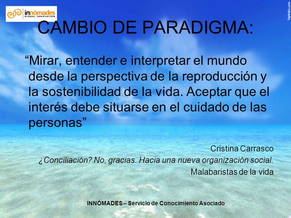 INNÓMADES – Servicio de Conocimiento Asociado CAMBIO DE PARADIGMA: Mirar, entender e interpretar el mundo desde la perspectiva de la reproducción y la