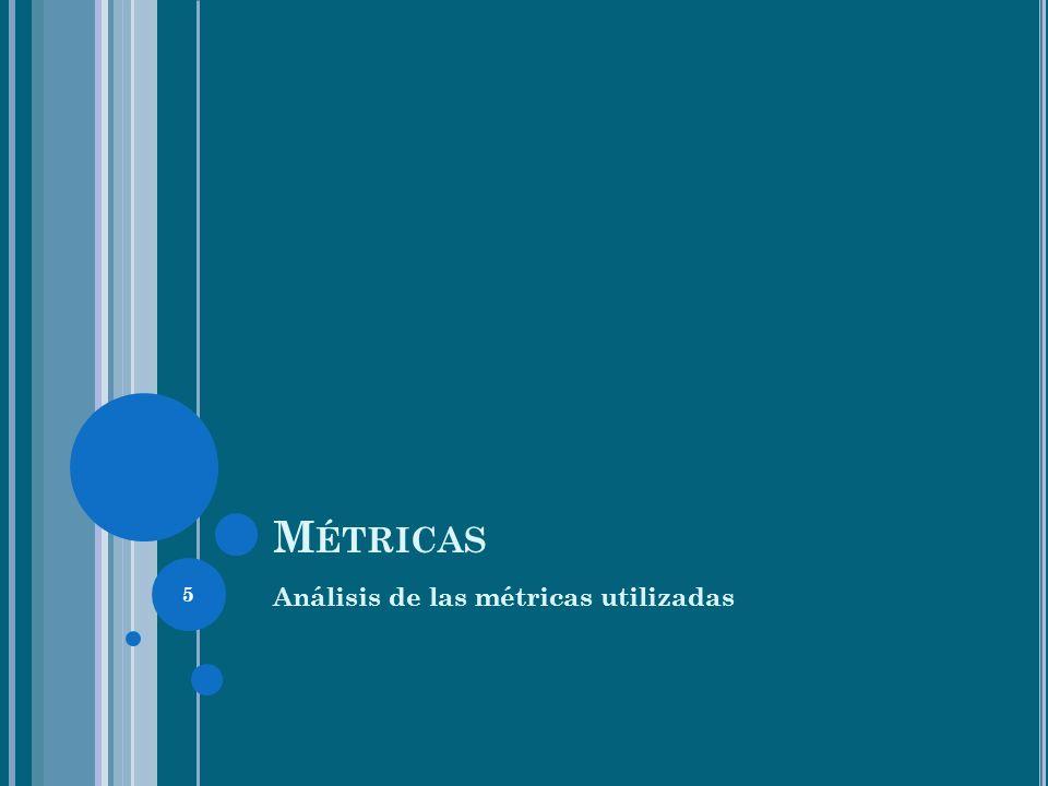 5 M ÉTRICAS Análisis de las métricas utilizadas
