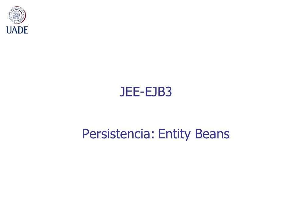 JEE-EJB3 Persistencia: Entity Beans