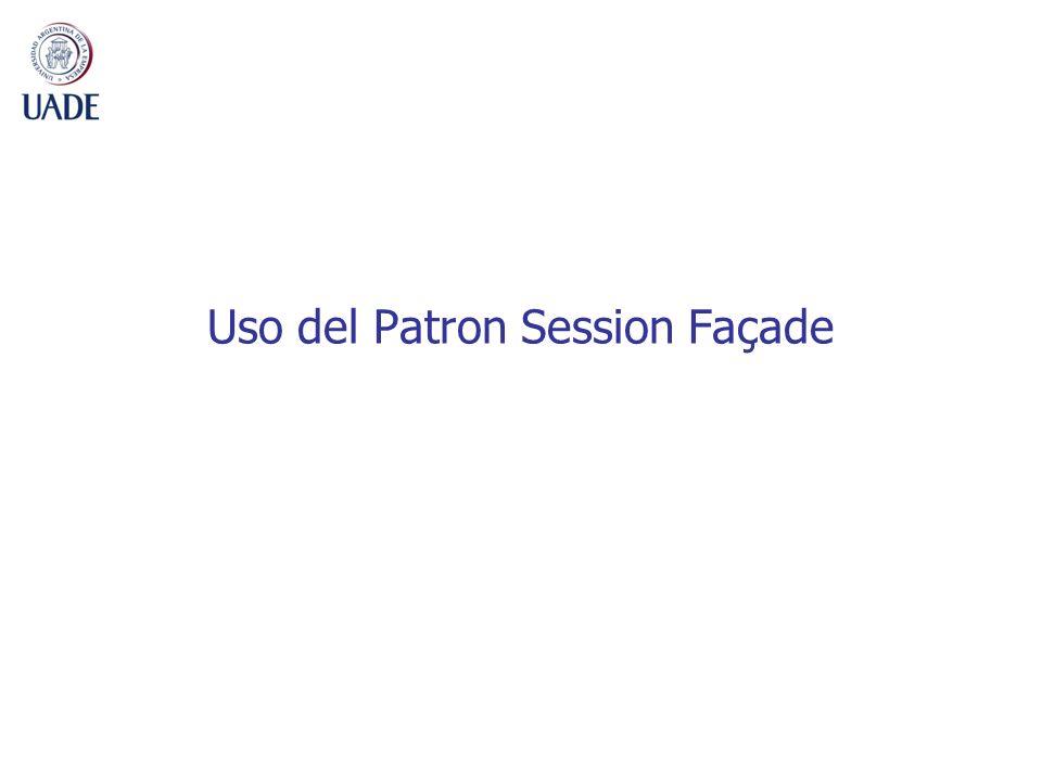 Uso del Patron Session Façade