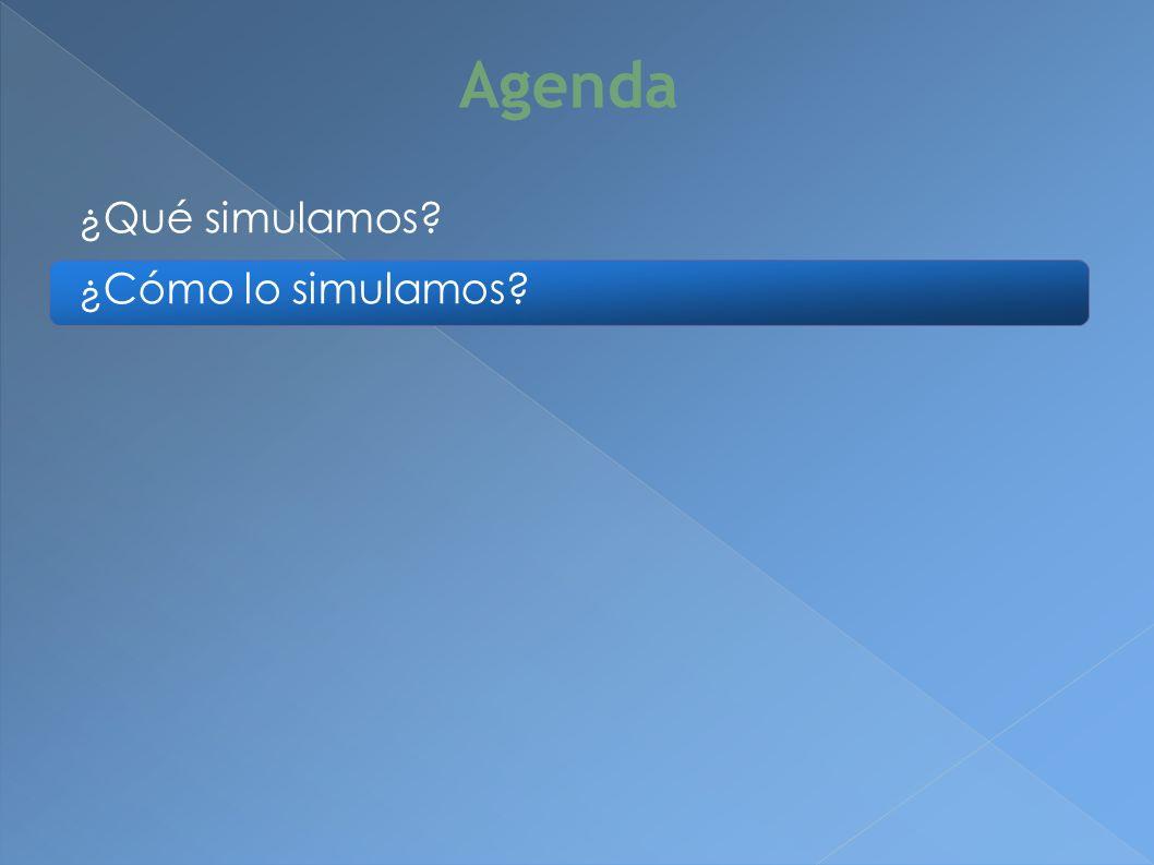 ¿Cómo lo simulamos Agenda