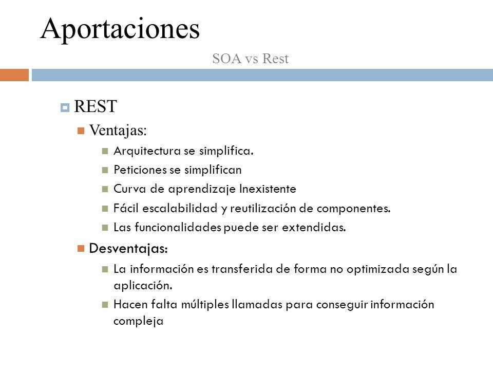 REST Ventajas: Arquitectura se simplifica.