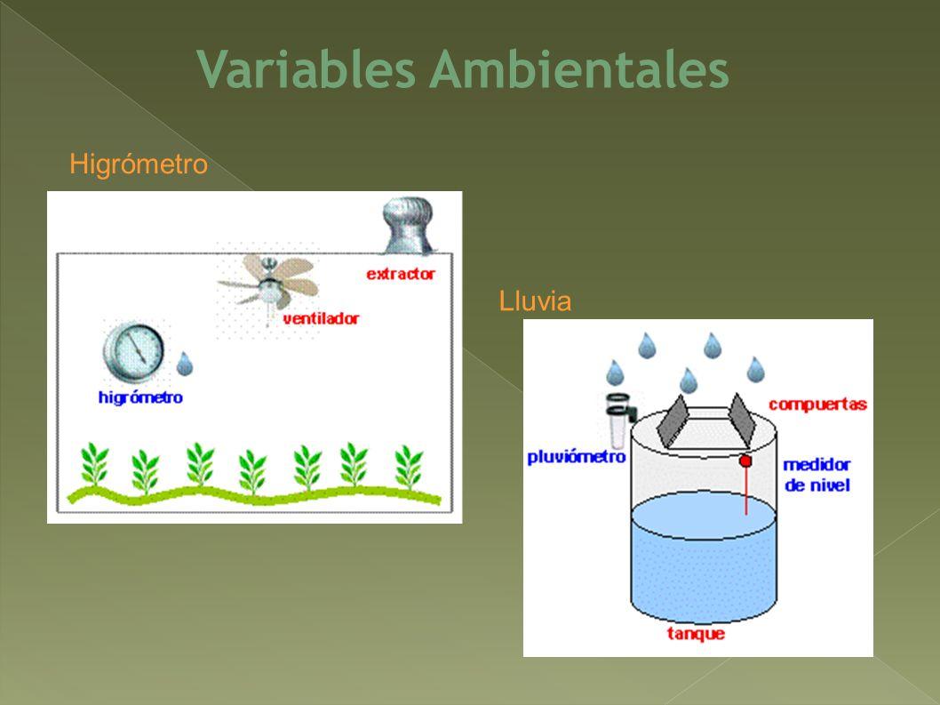 Variables Ambientales Higrómetro Lluvia