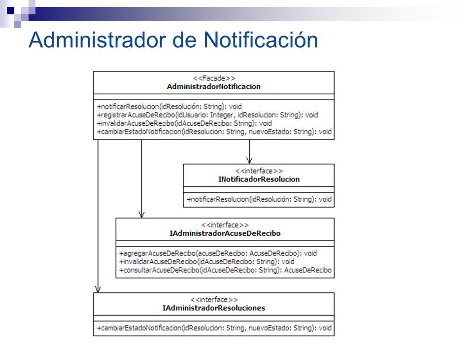 Administrador de Notificación