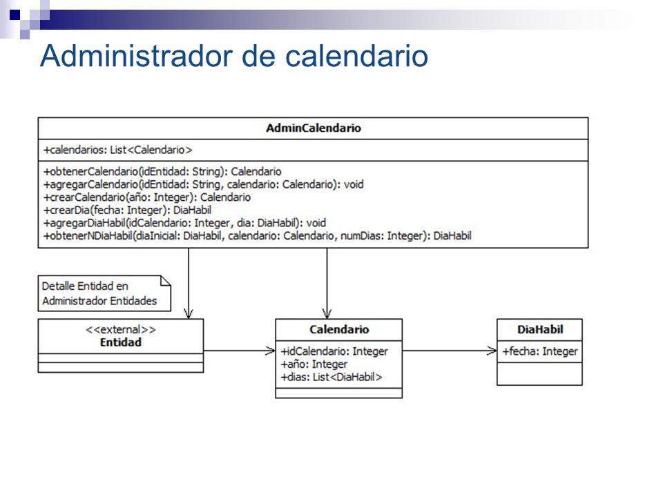 Administrador de calendario