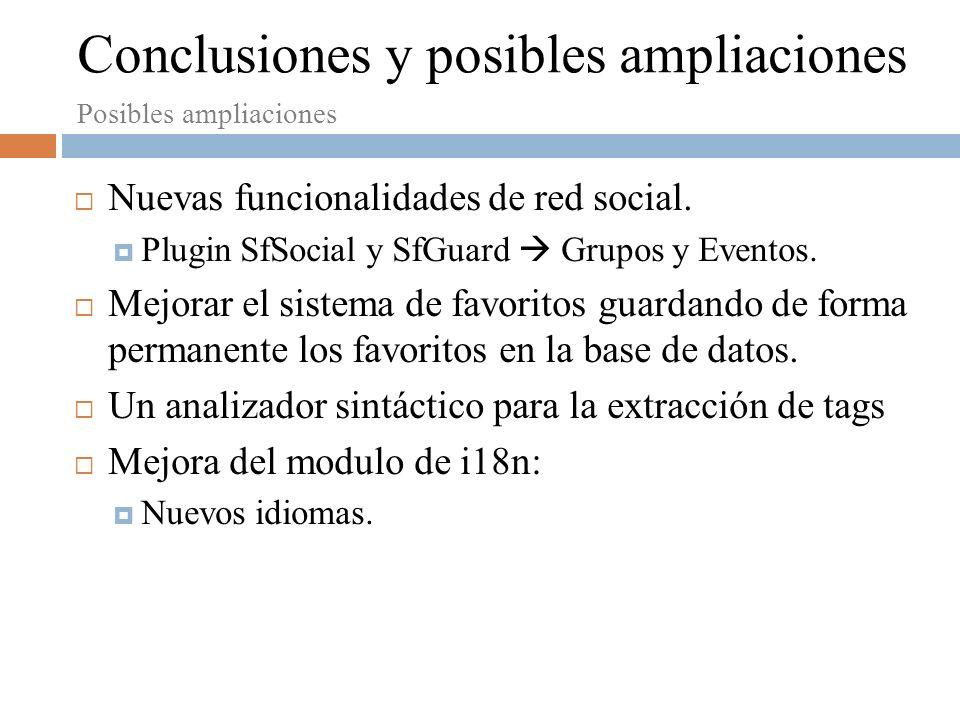 Nuevas funcionalidades de red social.Plugin SfSocial y SfGuard Grupos y Eventos.
