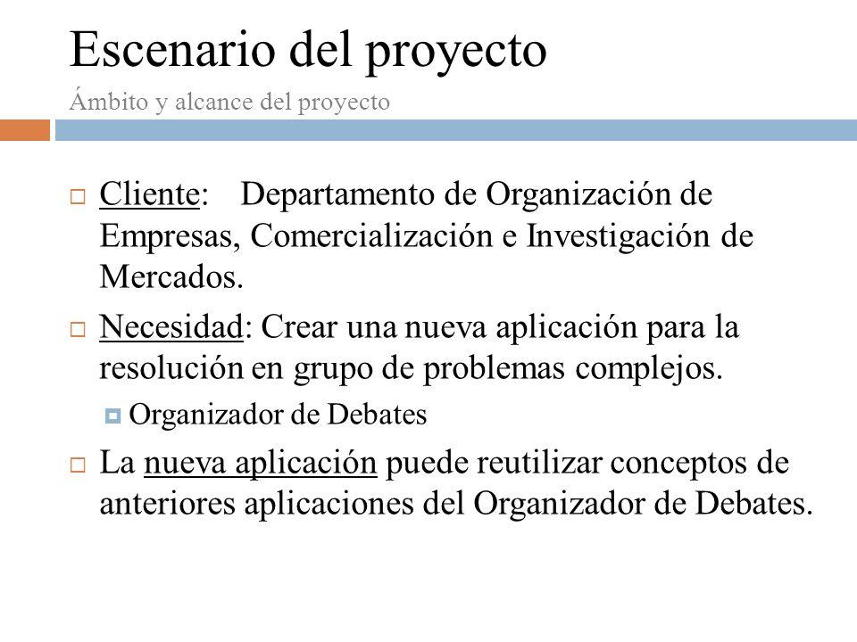 Escenario del proyecto Cliente:Departamento de Organización de Empresas, Comercialización e Investigación de Mercados.