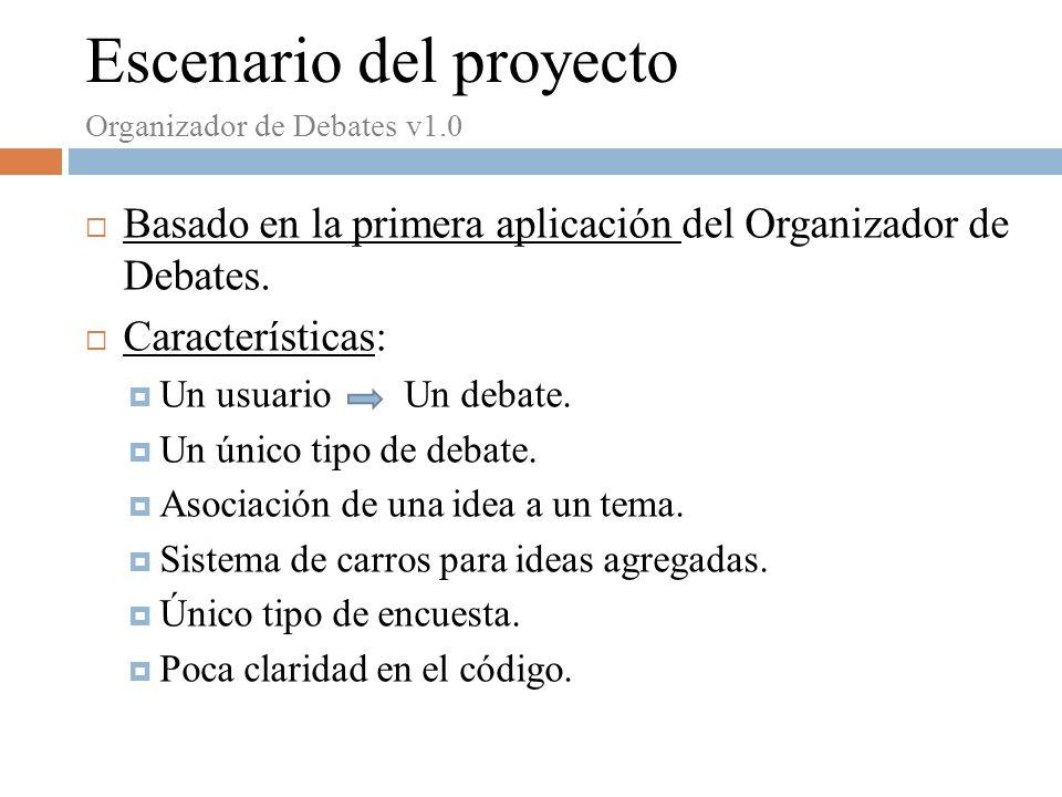 Basado en la primera aplicación del Organizador de Debates.