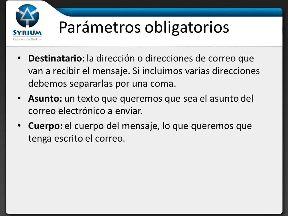 Ejemplo de mail simple <?php mail(destinatario1@prueba.com, destinatario2@otro.com ,Asunto ,Cuerpo del mensaje ) ?>