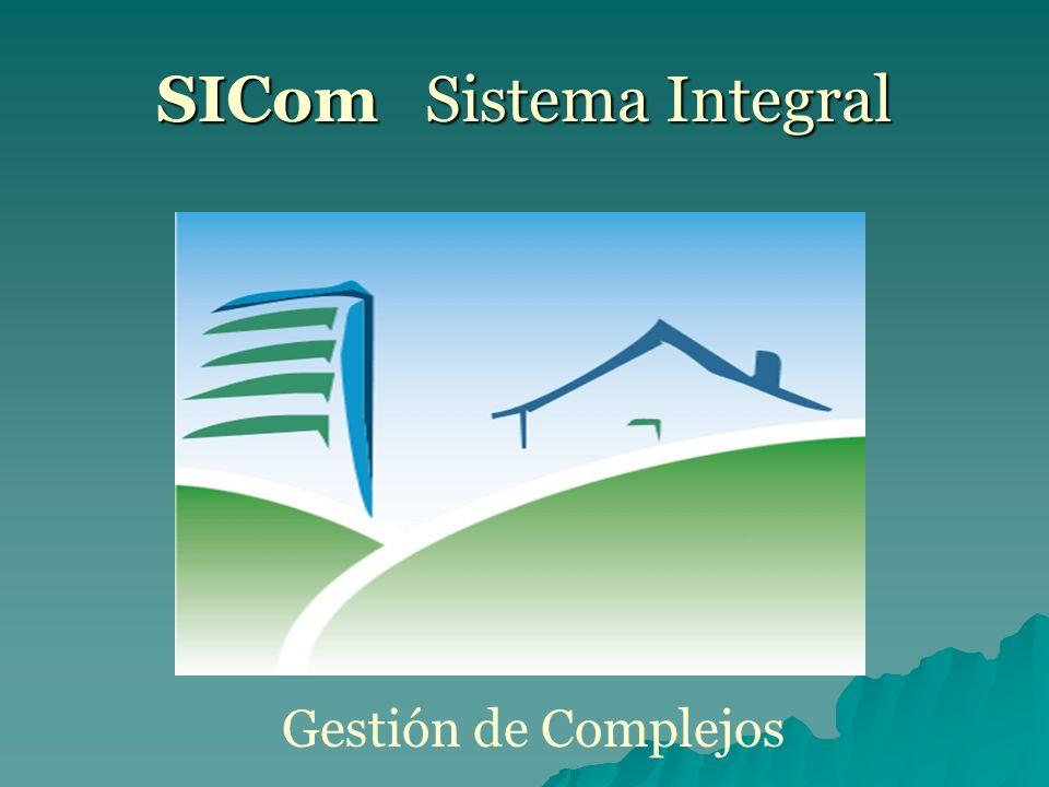 SICom Sistema Integral Gestión de Complejos
