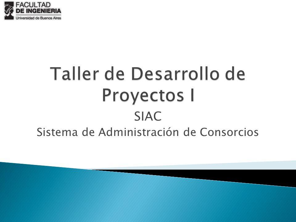 SIAC Sistema de Administración de Consorcios