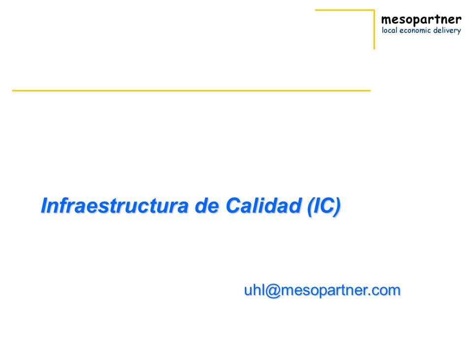Infraestructura de Calidad (IC) uhl@mesopartner.com