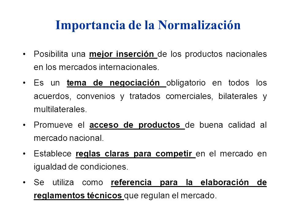 Posibilita una mejor inserción de los productos nacionales en los mercados internacionales. Es un tema de negociación obligatorio en todos los acuerdo