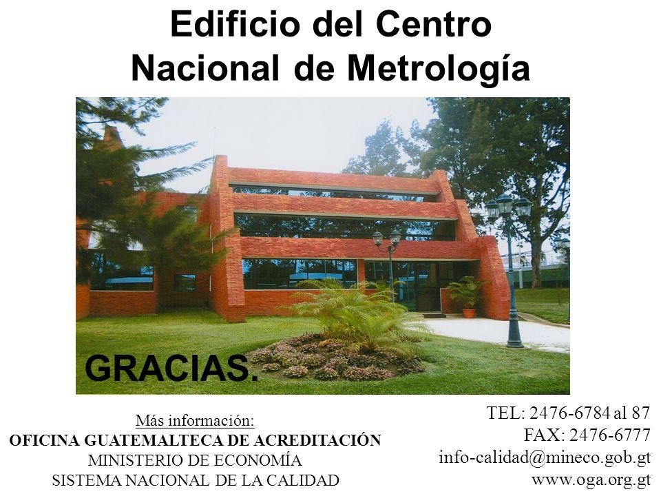 Edificio del Centro Nacional de Metrología Más información: OFICINA GUATEMALTECA DE ACREDITACIÓN MINISTERIO DE ECONOMÍA SISTEMA NACIONAL DE LA CALIDAD