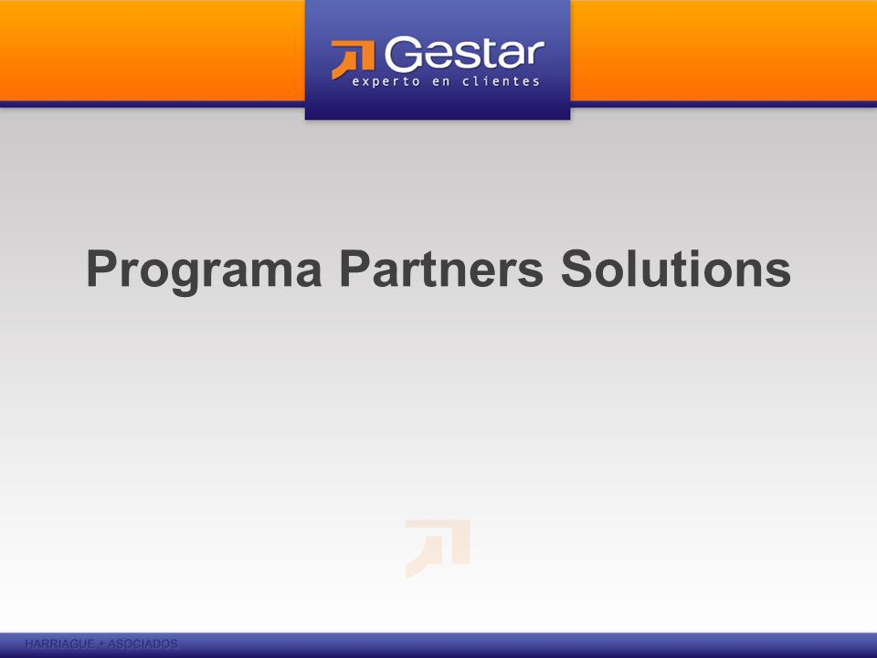 Programa Partners Solutions
