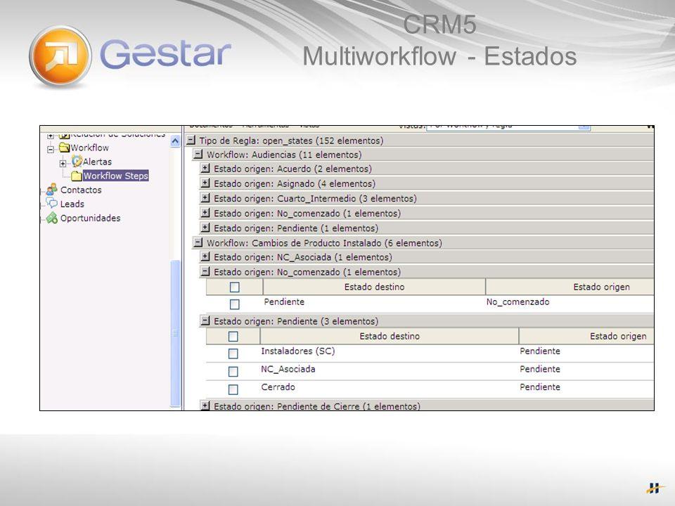 CRM5 Multiworkflow - Estados