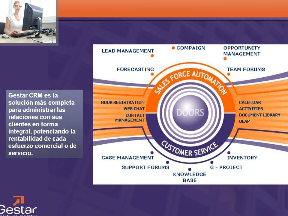 CRM Gestar CRM es la solución más completa para administrar las relaciones con sus clientes en forma integral, potenciando la rentabilidad de cada esf