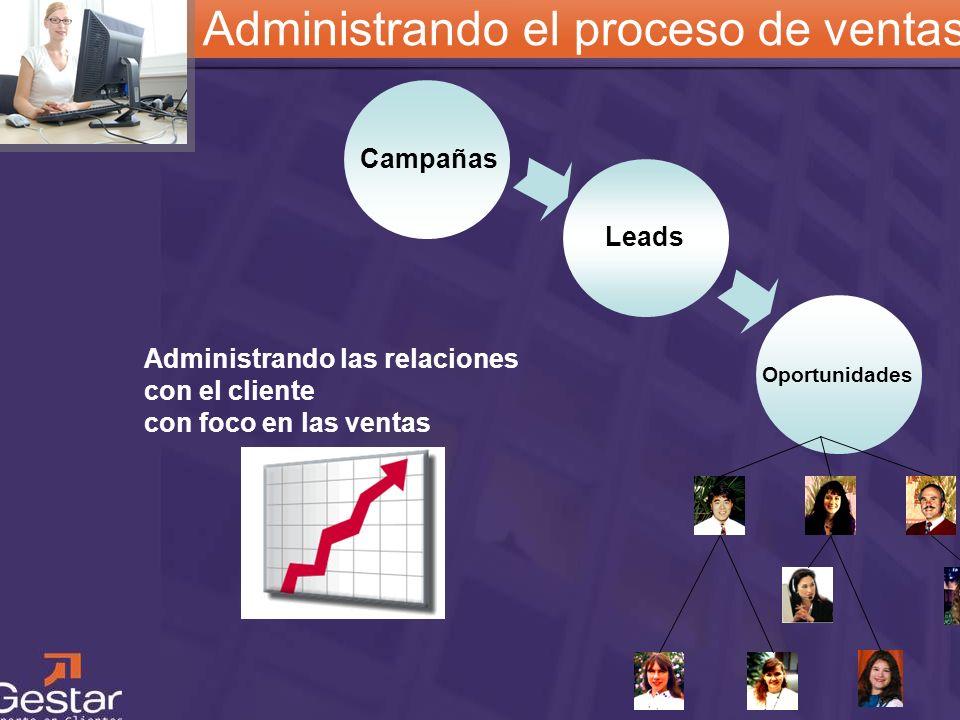 CRM Administrando el proceso de ventas Campañas Leads Oportunidades Administrando las relaciones con el cliente con foco en las ventas