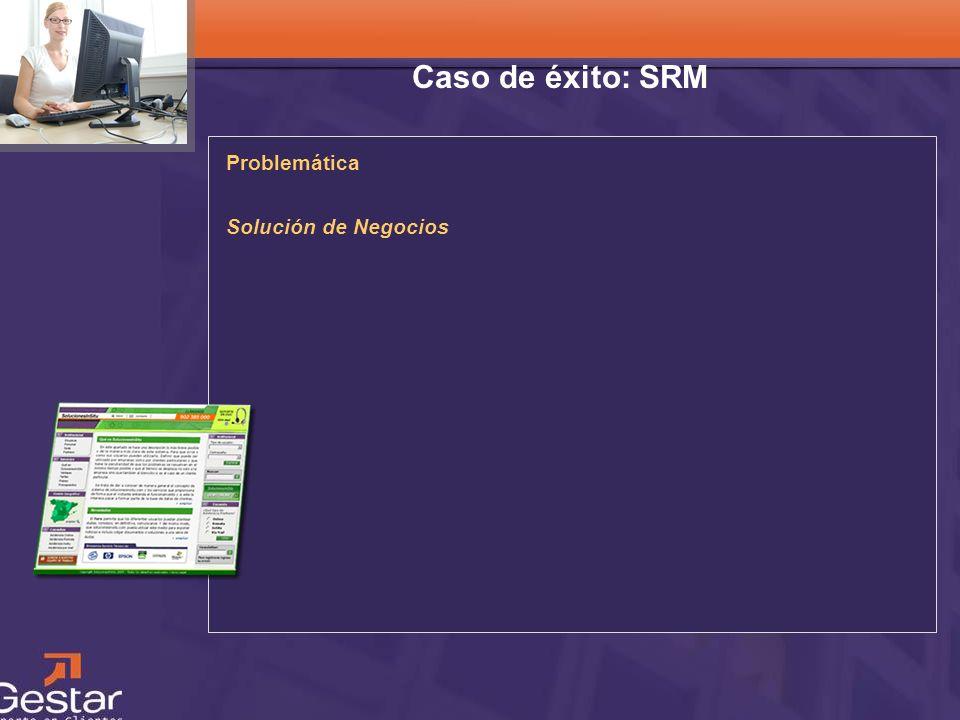 CRM Caso de éxito: SRM Problemática Solución de Negocios