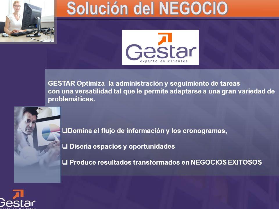 CRM GESTAR Optimiza la administración y seguimiento de tareas con una versatilidad tal que le permite adaptarse a una gran variedad de problemáticas.