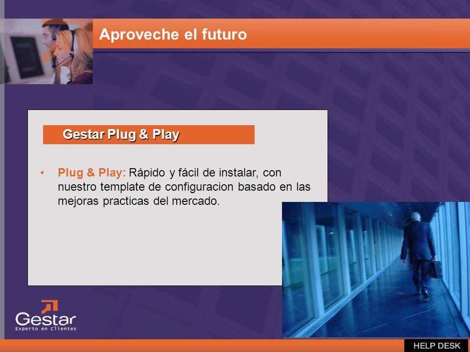 Plug & Play: Rápido y fácil de instalar, con nuestro template de configuracion basado en las mejoras practicas del mercado. Aproveche el futuro Gestar