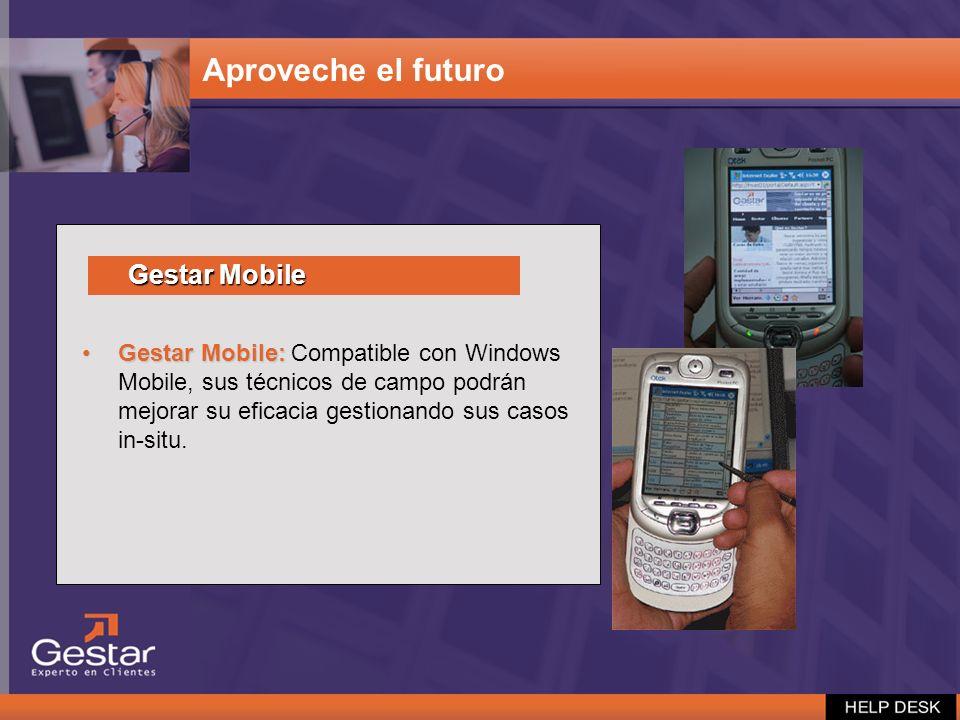 Gestar Mobile:Gestar Mobile: Compatible con Windows Mobile, sus técnicos de campo podrán mejorar su eficacia gestionando sus casos in-situ. Aproveche