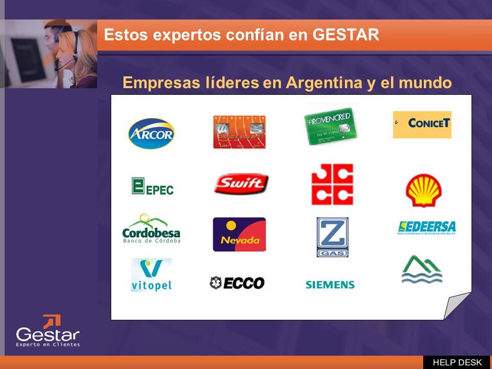 Empresas líderes en Argentina y el mundo Estos expertos confían en GESTAR