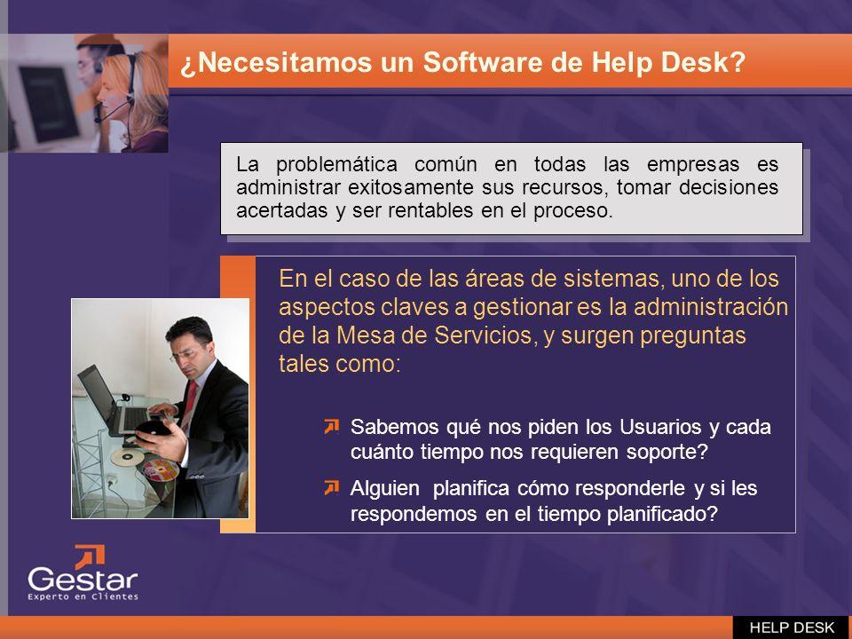 ¿Necesitamos un Software de Help Desk? En el caso de las áreas de sistemas, uno de los aspectos claves a gestionar es la administración de la Mesa de