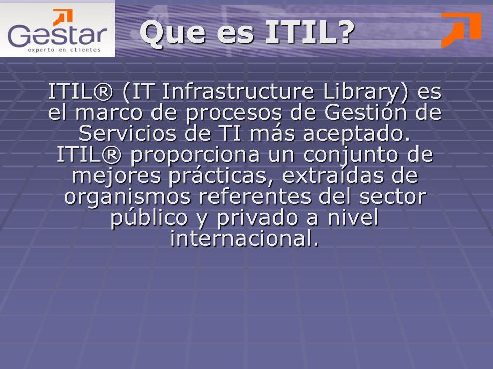 Este proceso se encarga de realizar los cambios de infraestructura (estandarización y verificación del estado), de identificar los elementos de configuración (inventario, vínculos respectivos, verificación y registro), de reunir y gestionar la documentación de la infraestructura TI y de proporcionar información de la infraestructura TI a todos los procesos.
