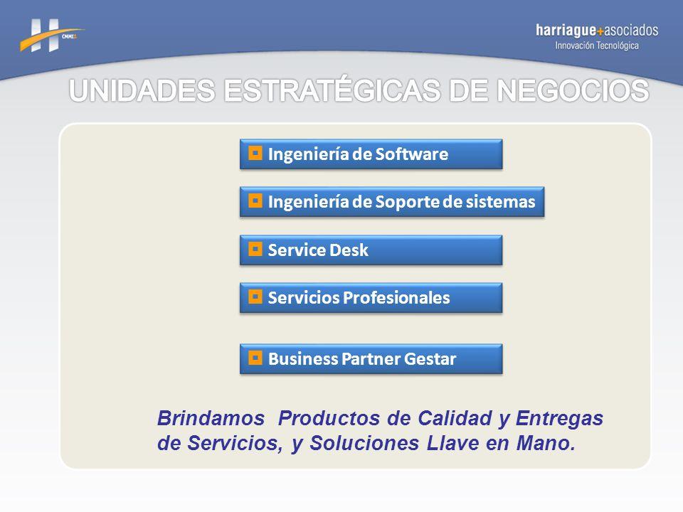 Brindamos Productos de Calidad y Entregas de Servicios, y Soluciones Llave en Mano. Ingeniería de Soporte de sistemas Service Desk Business Partner Ge