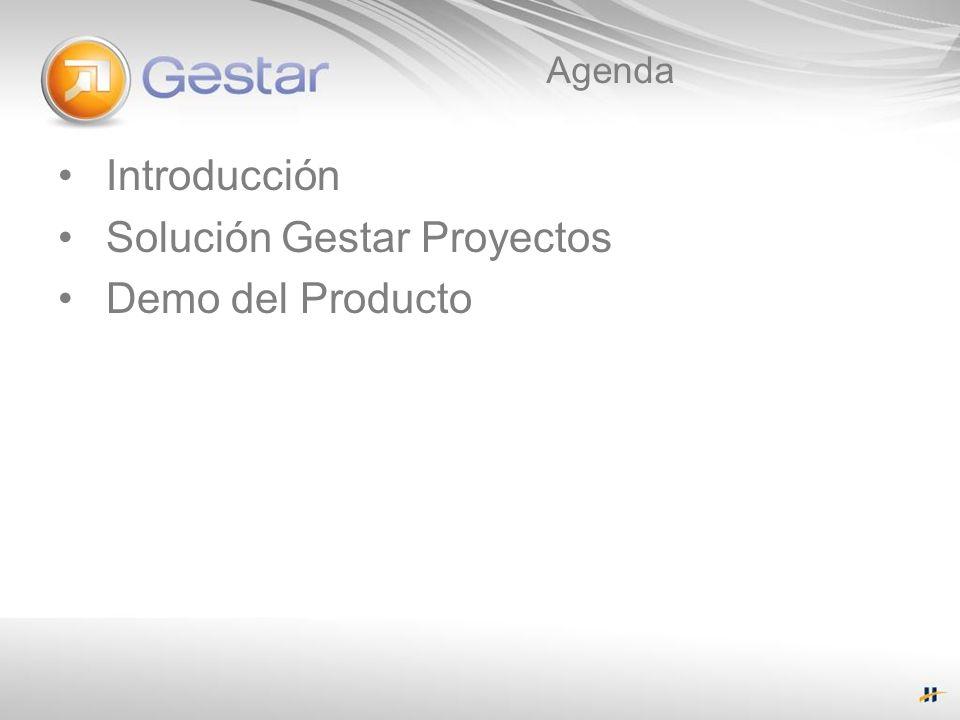 Agenda Introducción Solución Gestar Proyectos Demo del Producto