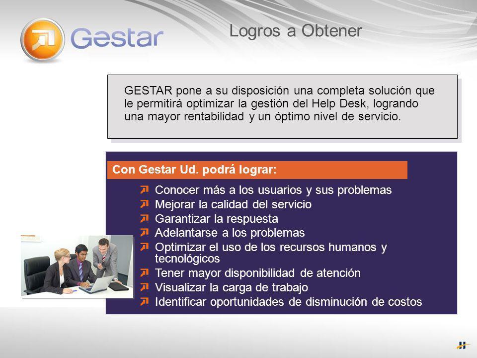 Módulos Service Desk: Administra requerimientos de servicio.