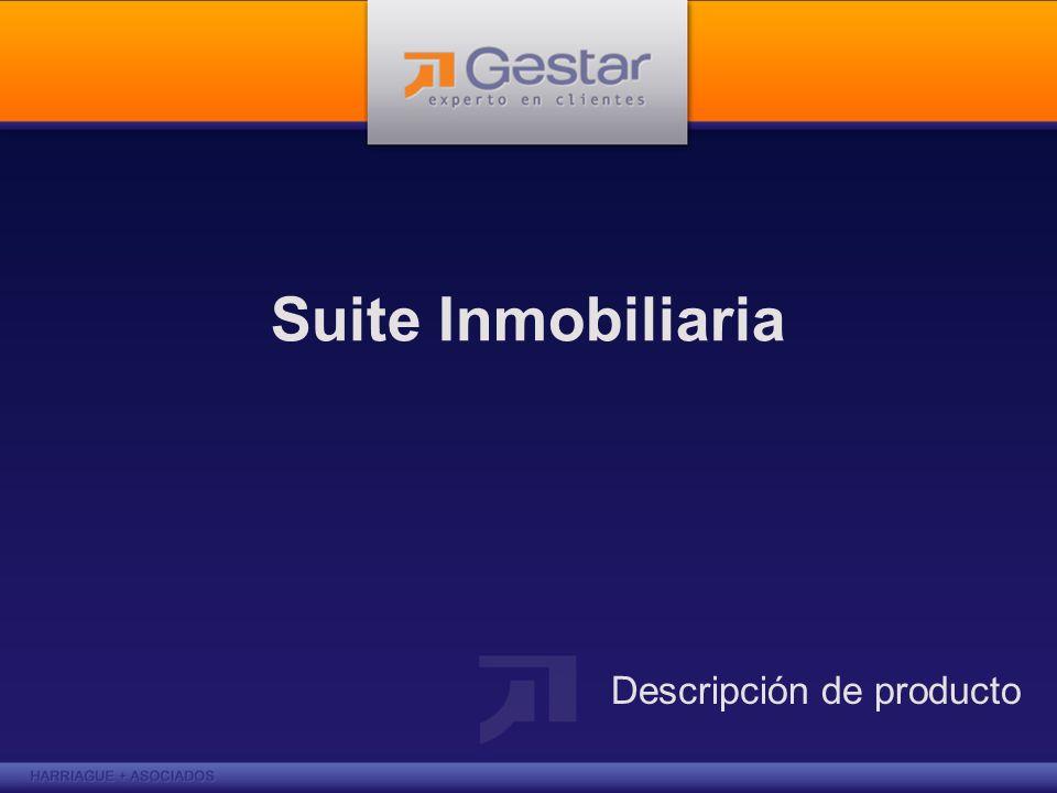 GESTAR Suite Inmobiliaria Gestar Suite Inmobiliaria es una herramienta que da soporte a la Gestión Comercial, a los procesos de relacionamiento con sus Clientes y a los procesos de Construcción de obras de su empresa Inmobiliaria