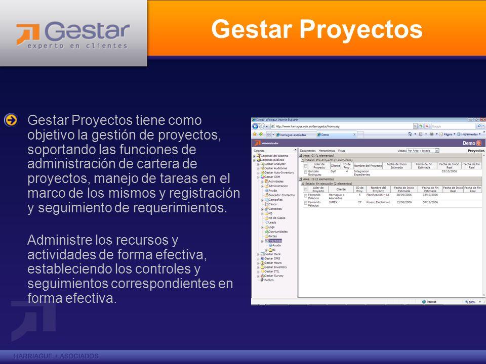 Gestar Proyectos Gestar Proyectos tiene como objetivo la gestión de proyectos, soportando las funciones de administración de cartera de proyectos, man