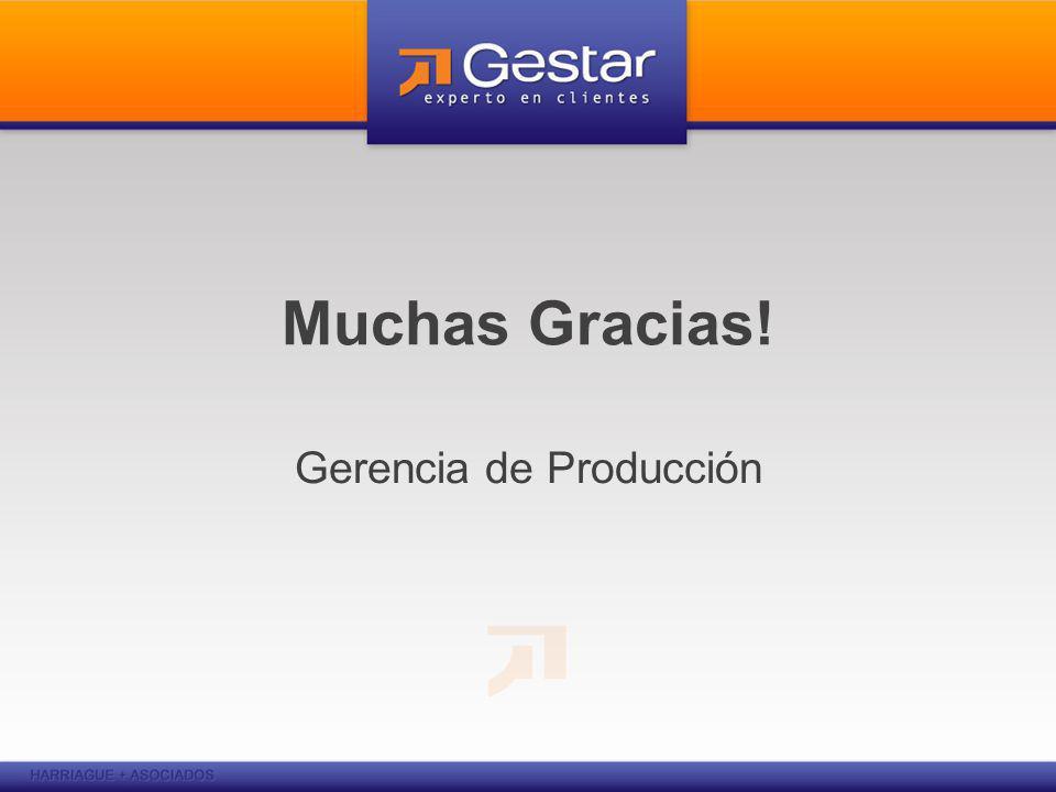 Muchas Gracias! Gerencia de Producción