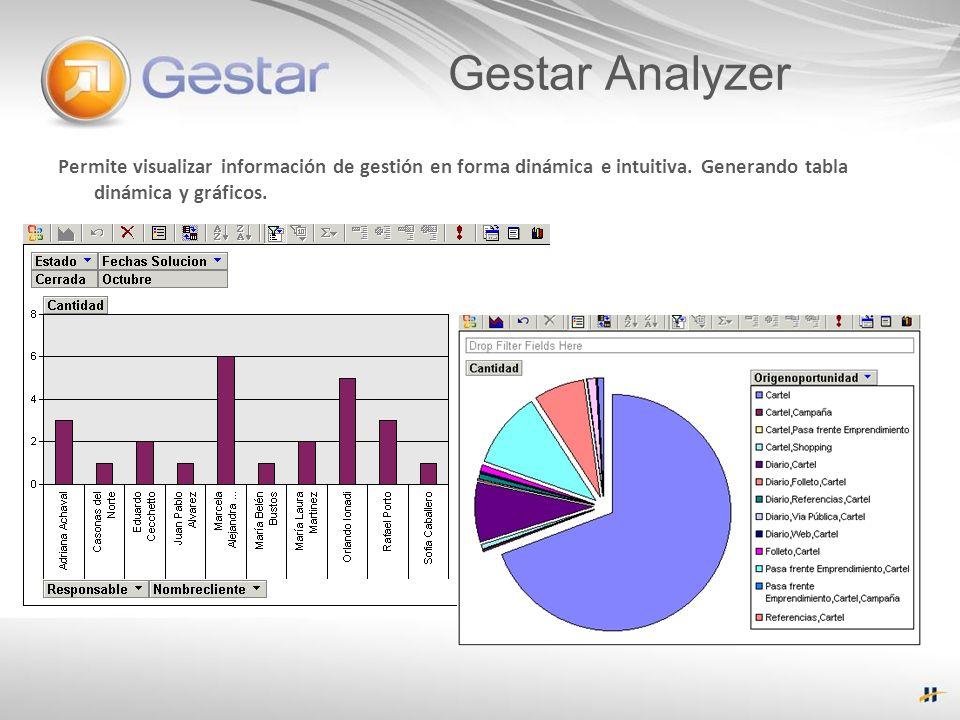 Permite visualizar información de gestión en forma dinámica e intuitiva.