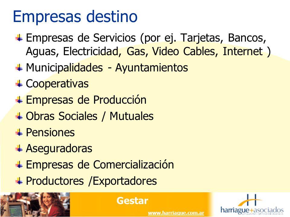 Gestar www.harriague.com.ar Empresas de Servicios (por ej.