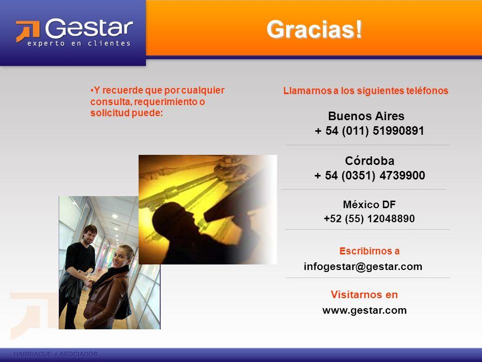 Gracias! Llamarnos a los siguientes teléfonos Buenos Aires + 54 (011) 51990891 Córdoba + 54 (0351) 4739900 México DF +52 (55) 12048890 Escribirnos a i