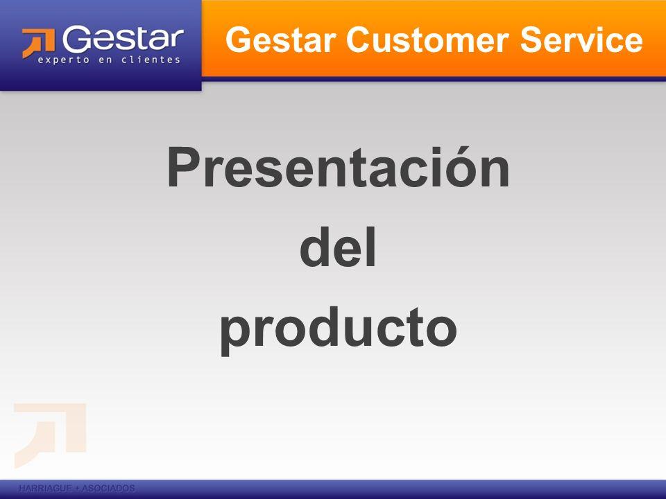 Presentación del producto Gestar Customer Service