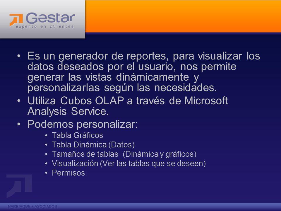 Es un generador de reportes, para visualizar los datos deseados por el usuario, nos permite generar las vistas dinámicamente y personalizarlas según l