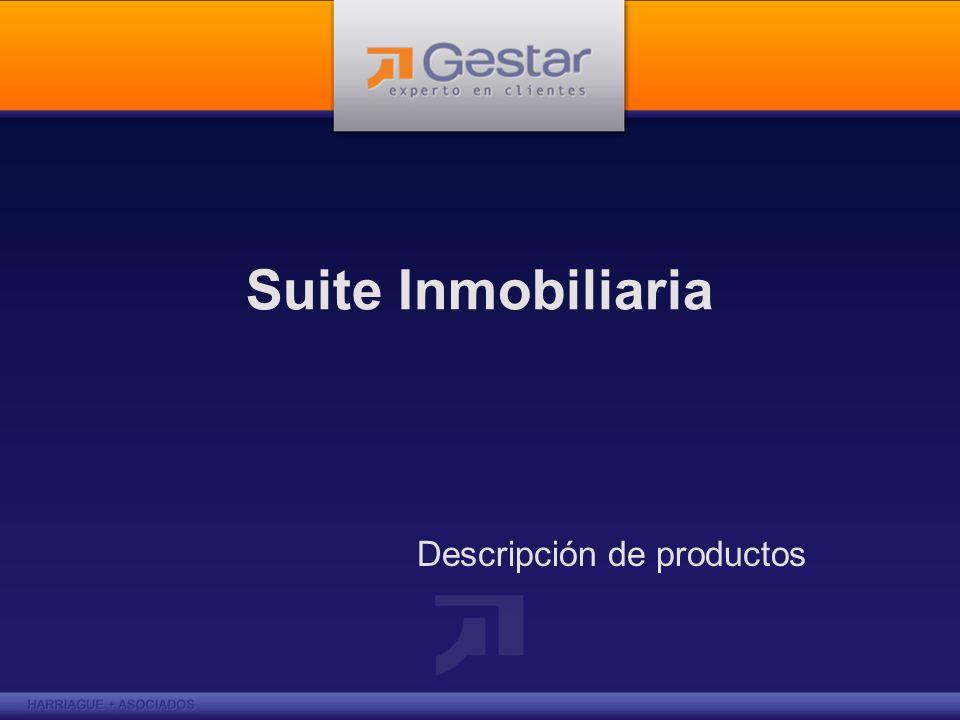 Gestar Inmobiliarias Gestar Suite inmobiliaria es una herramienta que da soporte a la gestión de procesos de relacionamiento con los clientes y gestión comercial de una empresa inmobiliaria.