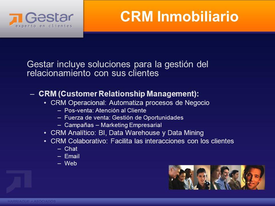 Gestar incluye soluciones para la gestión del relacionamiento con sus clientes –CRM (Customer Relationship Management): CRM Operacional: Automatiza pr