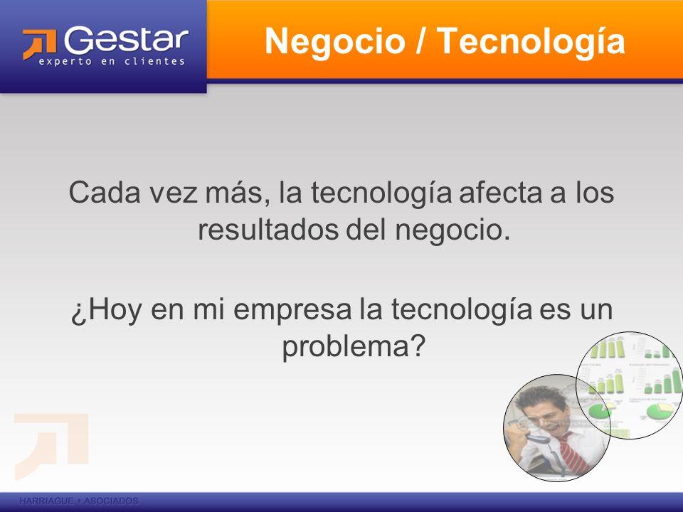 Negocio / Tecnología Cada vez más, la tecnología afecta a los resultados del negocio.