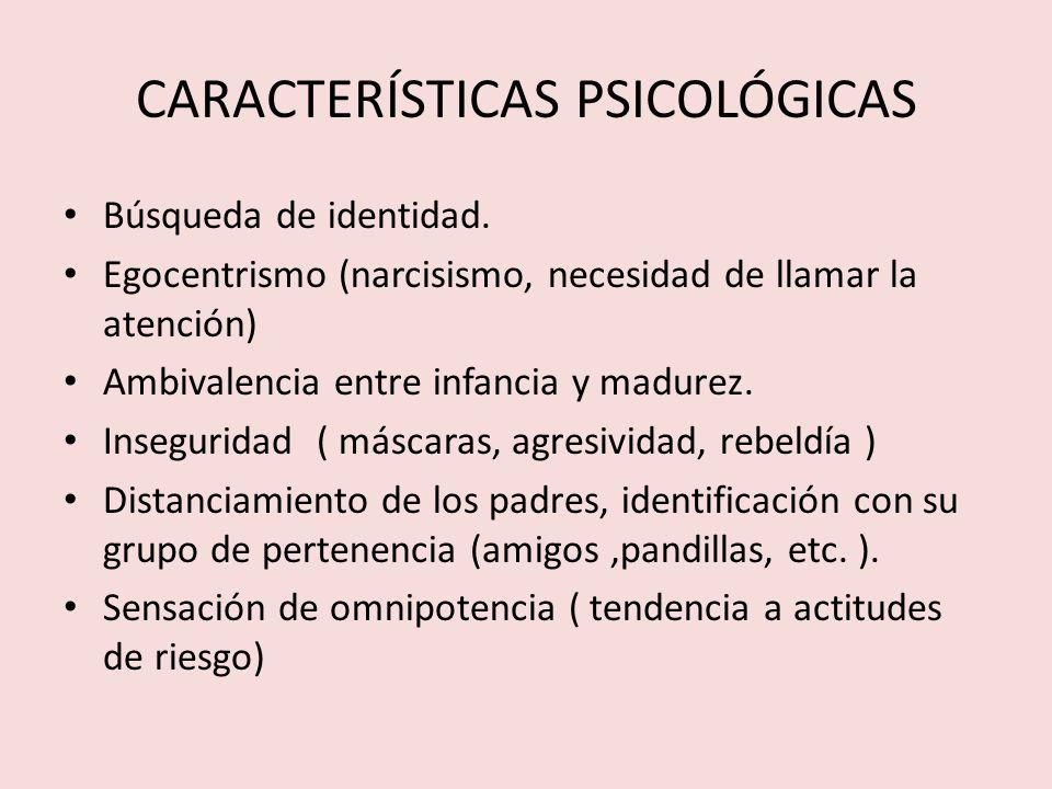 SINDROME DE LA ADOLESCENCIA NORMAL - Búsqueda de sí mismo y de la identidad.