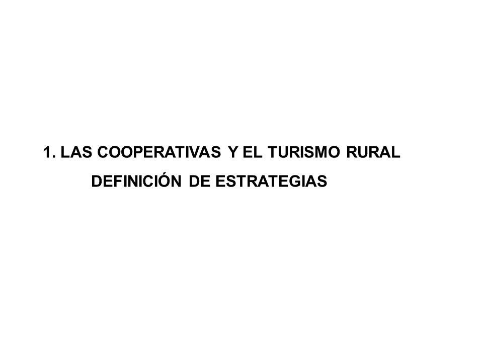 1. LAS COOPERATIVAS Y EL TURISMO RURAL DEFINICIÓN DE ESTRATEGIAS