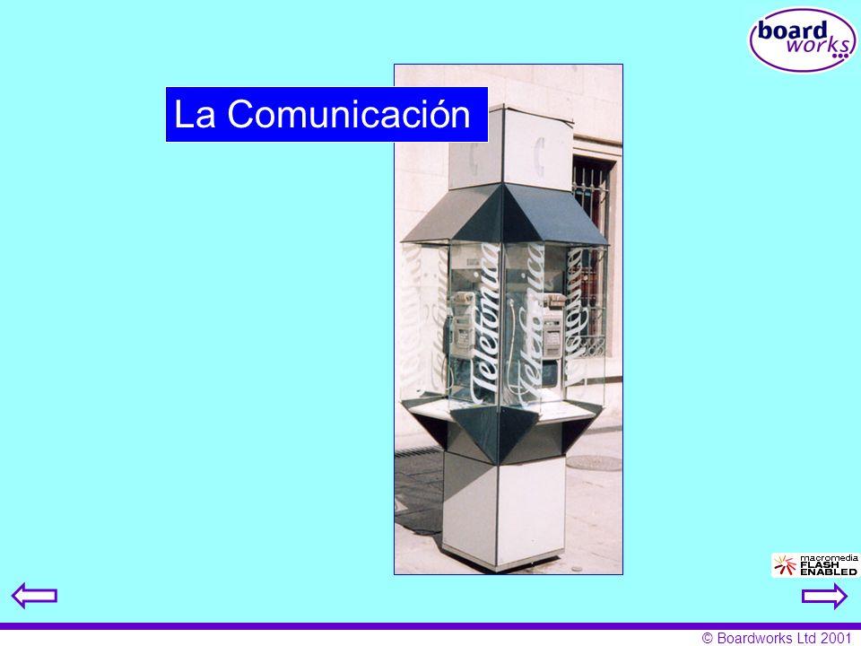 © Boardworks Ltd 2001 La Comunicación
