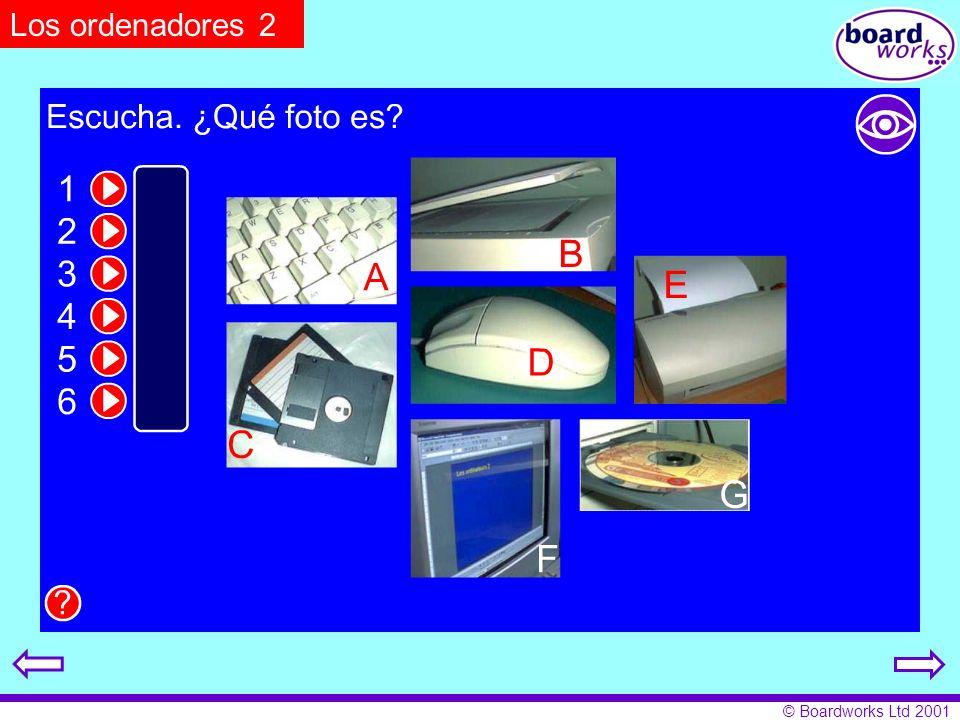 © Boardworks Ltd 2001 Los ordenadores 2
