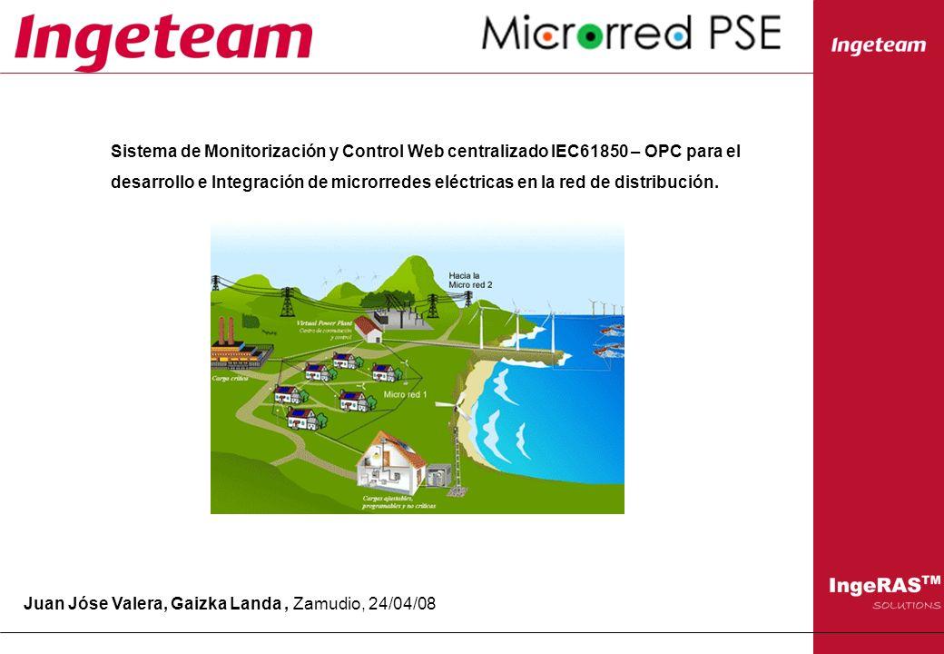 Sistema de Monitorización y Control Web centralizado IEC61850 – OPC para el desarrollo e Integración de microrredes eléctricas en la red de distribuci