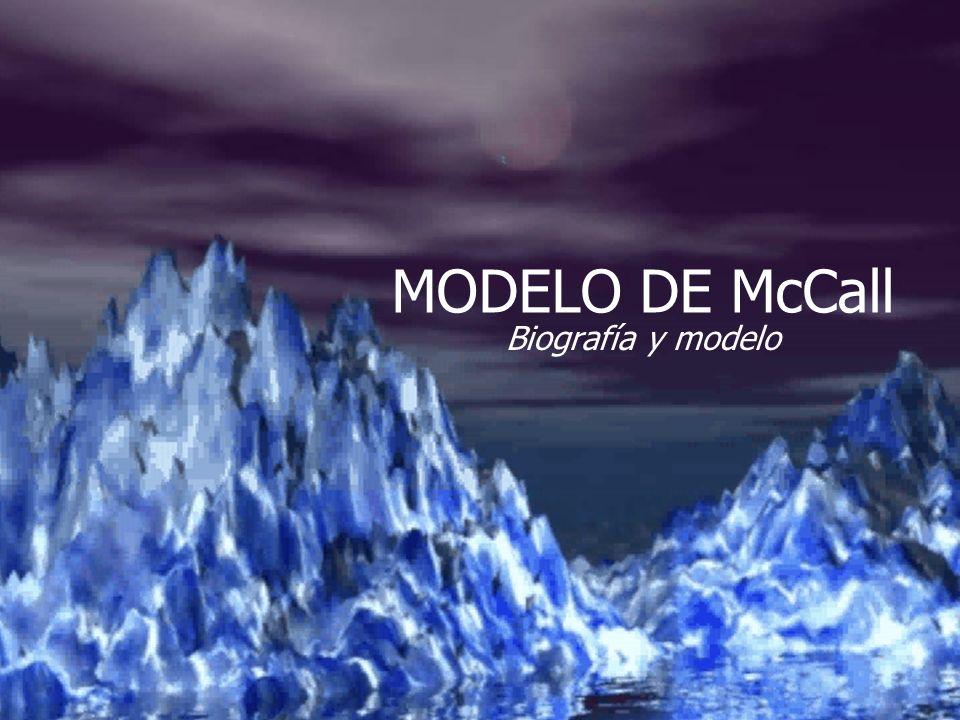 MODELO DE McCall Biografía y modelo
